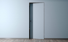 Скрытая дверь внутреннего открывания (Revers) с алюминиевой матовой кромкой