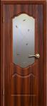 Дверь пвх Анастасия остекленная итальянский орех
