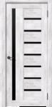Дверь Вертикаль Ель Альпиская черное стекло