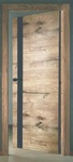 Дверь межкомнатная Royal 2 Дуб пацифика черное стекло